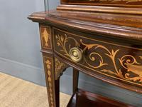 Edwardian Slender Inlaid Mahogany Display Cabinet (7 of 21)