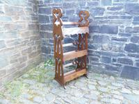 Arts & Crafts Carved Oak Book Rest (7 of 13)