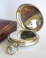 Antique Silver Revue Half Hunter Pocket Watch (3 of 5)