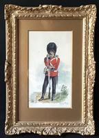 Harry Payne 1858-1927 Watercolour of Uniformed Soldier