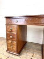 Small Antique Mahogany KneeHole Desk (4 of 9)