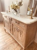 French Antique Oak Cupboard / Cabinet with Marble (3 of 10)