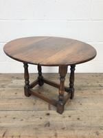 Small Antique Oak Drop Leaf Table (4 of 8)