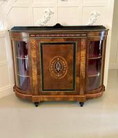 Fine Quality Antique Victorian Burr Walnut Inlaid Credenza