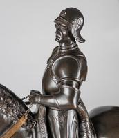 Very Large Stunning 19th Century Equestrian Bronze Sculpture of Bartolomeo Colleoni (3 of 20)