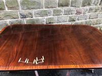 Antique Mahogany Twin Pillar Extending Dining Table (9 of 9)
