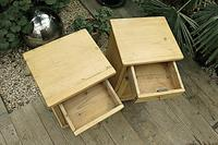 Fab! Two Matching 'will split' Old Pine Bedside Cabinets - We Deliver! (4 of 8)