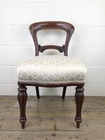 Single Victorian Mahogany Upholstered Chair (2 of 11)