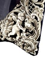"Antique Victorian Sterling Silver  1/2"" Cherubs Photo Frame 1897 (7 of 9)"