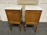 Pair of French Marble Top Bedside Cupboards (12 of 13)