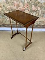 Late 19thC Nest Of Four Tables with Brass Banding (4 of 7)
