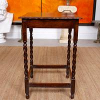 Oak Writing Table Arts & Crafts Side Table Edwardian Slim Petite (5 of 6)