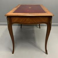 French Red Leather Top Bureau Plat (7 of 9)