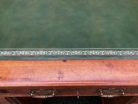 Antique Walnut Pedestal Writing Desk (pri) (3 of 10)