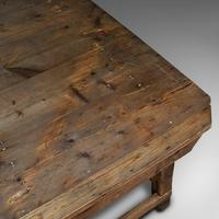 Large Antique Textiles Table, English, Pine, Shop, Retail, Display, Victorian (9 of 12)