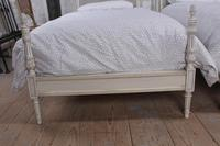 Pair of Painted Single Caned Low End Beds (5 of 7)