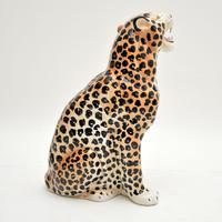 1970's Large Vintage Porcelain Leopard Sculpture (10 of 11)