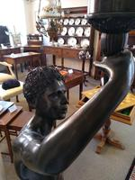 Pair of Bronze Blackamoor Lamps (7 of 9)