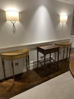 Fine Pair of Georgian Painted Demi-Lune Pier Tables (10 of 10)