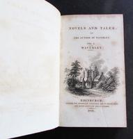 1821 Novels & Tales of Sir Walter Scott   16 x Fine Full Red Leather & Gilt Bindings (2 of 5)
