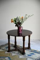 1930s Round Oak Coffee Table (2 of 12)