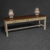 Country Style Three Drawer Dining Table (8 of 10)