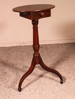 Small Tripod Pedestal Table with Mechanism 19th Century in Mahogany (7 of 9)