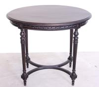 19th Century Ebonised Occasional Table (2 of 8)