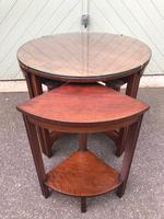 Edwardian Mahogany Round Nest of 5 Tables (4 of 9)