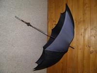 Victorian Hallmarked 1898 Silver Navy Silk Canopy Umbrella by Holyland (12 of 14)