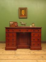 Victorian Antique Pedestal Desk, Hobbs & Co London (22 of 24)