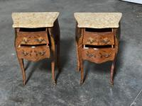 Quality Pair of French Marquetry Bedside Drawers (17 of 22)