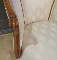 Louis XVI Style Tub Backed Armchair Newly Upholstery (8 of 9)