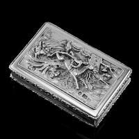 Rare Antique Georgian Solid Silver Mazeppa Snuff Box - Edward Smith 1836 (8 of 23)