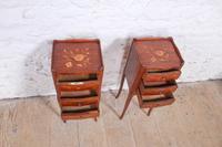 Pretty Pair of Walnut Three Bedsides (4 of 5)