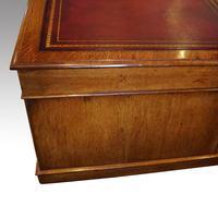 Victorian Oak Partners Desk (7 of 12)