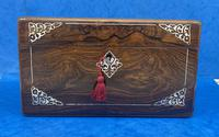 William IV Rosewood Jewellery Box Inlaid with Beautiful Mother of Pearl (13 of 14)