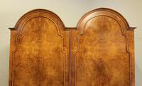 Burr Walnut Dome Top Double Hanging Wardrobe (4 of 9)