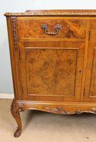 Burr Walnut Queen Anne Style Sideboard Server c.1930 (4 of 16)