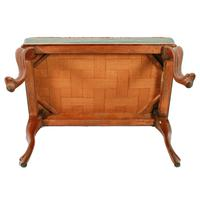 Victorian Oblong Rosewood Stool (5 of 7)