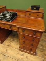 Antique Satin Birch Pedestal Desk by Heal & Sons (21 of 21)