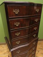 Antique Reproduction Serpentine Chest of Drawers, Chest on Chest by Hekman USA (15 of 17)