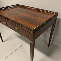 Exceptional Georgian silver table with fret gallery top (9 of 13)