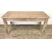 Antique Pitch Pine Table with Drawers (2 of 10)
