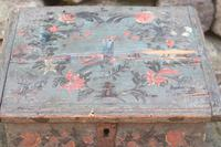Scandinavian / Swedish 'Folk Art' Bridal / dowry chest, rosmålning heart & love bird decoration c.1780 (23 of 39)