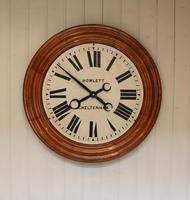 Rare 33 Inch Industrial Oak Wall Clock (8 of 10)