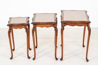 Pretty Queen Anne Style Nest of 3 Tables c.1930 (7 of 8)