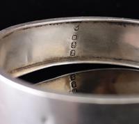 Victorian Silver Bangle, Swallows, Aesthetic era (5 of 12)