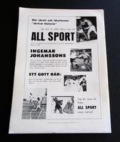 1958 Boxing Programme  For Eddie Machen Vs Ingemar Johansson September 14th Sweden (4 of 4)