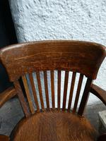10 1920's Solid Oak Chairs (6 of 7)